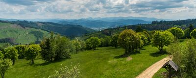 Free View From Martakov Kopec Hill In Javorniky Mountains In Slovakia During Beautiful Springtime Day Stock Photos - 186553423