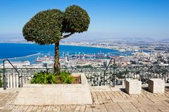 View From Mount Carmel To Port And Haifa In Israel Royalty Free Stock Photos