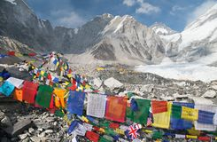Free View From Mount Everest Base Camp With Prayer Flags Royalty Free Stock Photo - 76863395