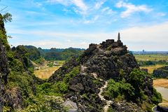 Free View From Mua Cave Mountain In Ninh Binh Tam Coc Royalty Free Stock Photos - 154036408