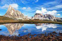 Free View From Passo Giau To Mount Ra Gusela And Tofana Stock Photo - 107397300
