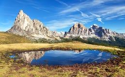 Free View From Passo Giau To Mount Ra Gusela And Tofana Royalty Free Stock Photos - 109221778