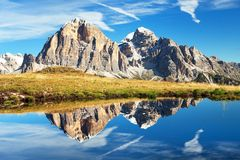 Free View From Passo Giau, Tofana, Tofano Or Le Tofane Gruppe Royalty Free Stock Images - 107397299