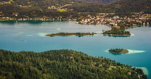 Free View From Pyramidenkogel Tower Of The Lake Worthersee In Austria Stock Photos - 195587873