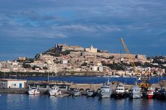 View From Sea Of Milazzo Town In Sicily, Italy Stock Image