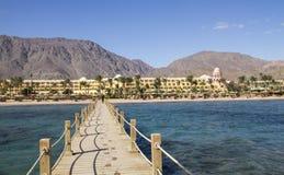 View From Sea To Sofitel Hotel Near Taba City, Egypt Stock Photo