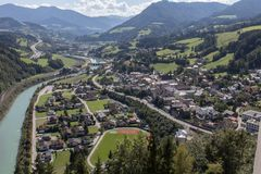 Free View From The Castle Of Werfen Stock Images - 131700384