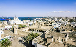 View From The Heights Over The Port And The Medina Of Sousse Tun Royalty Free Stock Photos