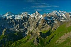 View From The Schilthorn Mountain Stock Photos