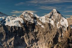 View From The Schilthorn Mountain Royalty Free Stock Photo
