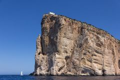 Free View From The Sea On Cape Capo Caccia Near Alghero City Of Sardi Stock Photos - 158092103
