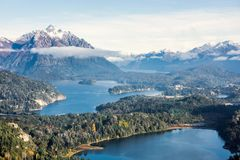 View From The Top Of Cerro Companario In Nahuel Huapi National Park, San Carlos De Bariloche Stock Photography