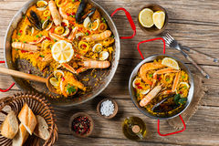 View From The Top Of Paella Stock Images