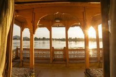 Free View From The Traditional Houseboat On Dal Lake In Srinagar Royalty Free Stock Photography - 116910127