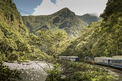 Free View From The Window Of The Train From Cusco To Machu Picchu Royalty Free Stock Image - 159769206