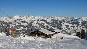 View From The Wispile Ski Area In Gstaad Royalty Free Stock Images