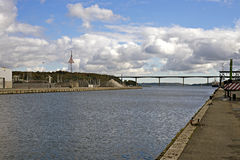 View From Vejle Harbor Royalty Free Stock Photo