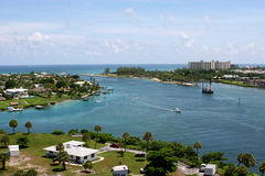 View fromJupiter Lighthouse. A view from the historic Jupiter Lighthouse Royalty Free Stock Photos