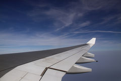 View fron an airplane Royalty Free Stock Photography