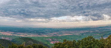 View fron Haut-Koenigsbourg Castle, Alsace, France Royalty Free Stock Photography