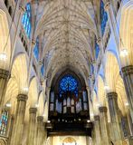 St. Patrick`s Cathedral Organ and Stained Glass royalty free stock photos