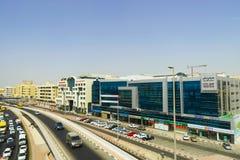 View frorm the Dubai metro car Stock Photos