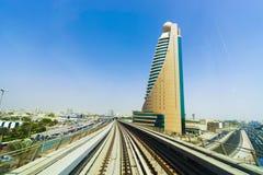 View frorm the Dubai metro car Stock Photography