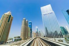 View frorm the Dubai metro car Royalty Free Stock Photo