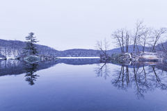 View of the frozen lake. Stock Images