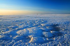 View from frozen sea in Finland Royalty Free Stock Photo