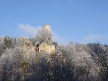 View on Frydstejn castle ruin Royalty Free Stock Image