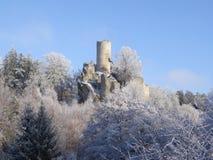 View on Frydstejn castle ruin Stock Images