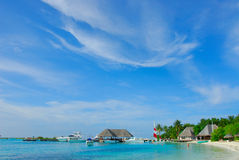 View of fs resort @ kuda huraa, maldives Royalty Free Stock Image