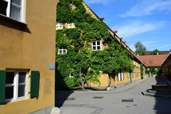 A view of the FUGGEREI in Augsburg, Germany Stock Photo