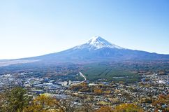 View Fuji and City Royalty Free Stock Images