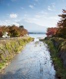 View of Fuji mountain from Kawaguchiko lake Royalty Free Stock Photos