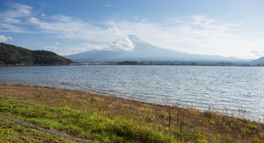 View of Fuji mountain from Kawaguchiko lake Royalty Free Stock Images