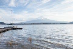 View of Fuji mountain from Kawaguchiko lake Stock Photos