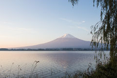View of Fuji mountain from Kawaguchiko lake Stock Photos