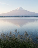 View of Fuji mountain from Kawaguchiko lake Royalty Free Stock Photos