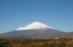 View fuji mountain see from hotel Royalty Free Stock Photography