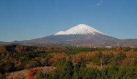 View fuji mountain see from hotel Royalty Free Stock Image