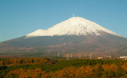 View fuji mountain see from hotel Stock Photo