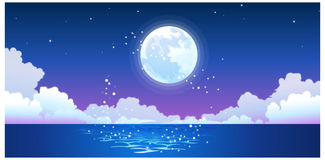 The view of Full moon Stock Image