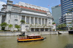 View on the Fullerton hotel, Singapore Stock Image