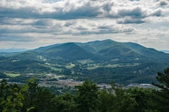 A view of Fullhardt Knob from Tinker Mountain. A view of Fullhardt Knob from Tinker Ridge Mountain located in Botetourt County, Virginia, USA Royalty Free Stock Photo