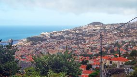 View of Funchal, the capital of Madeira stock photo