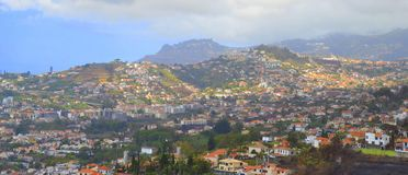 View of Funchal on Madeira Island stock images