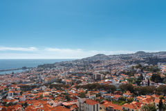 View of Funchal. Madeira island, Portugal royalty free stock photography
