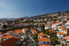 View of Funchal. Madeira island, Portugal royalty free stock images